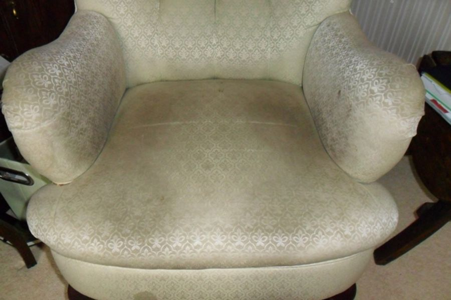 Before upholstery cleaning