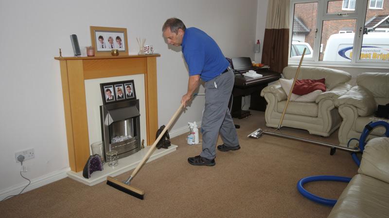 Carpet Brushing
